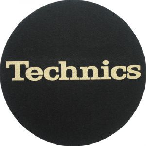 Slipmats Technics Logo gold Twin pack