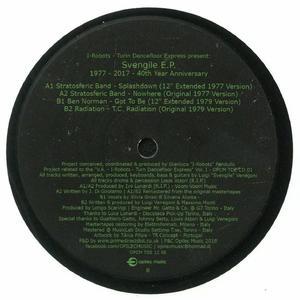 Va-I Robots Turin Dancefloor Express presents Svengile EP 1977-2017: 40th Year Anniversary Edition