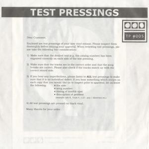 Demdike Stare;Testpressing 005-Procrastination / Past Majesty / Modern Love